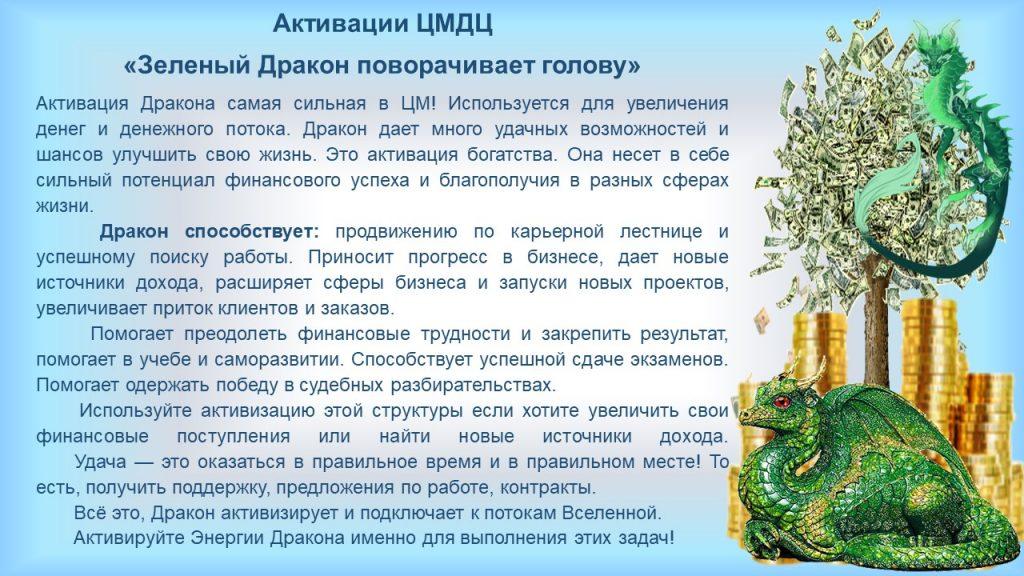 Активации Фэн Шуй и ЦМДЦ