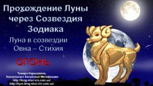 Луна в Созвездии Овна