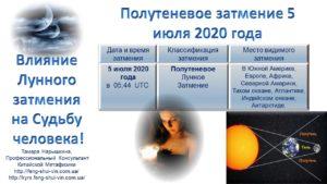 Лунное затмение июля 2020