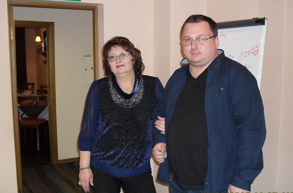 Тамара Нарышкина с Мастером В. Захаровым.