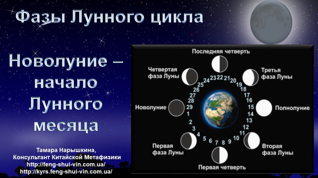 Новолуние Фазы Лунного цикла.