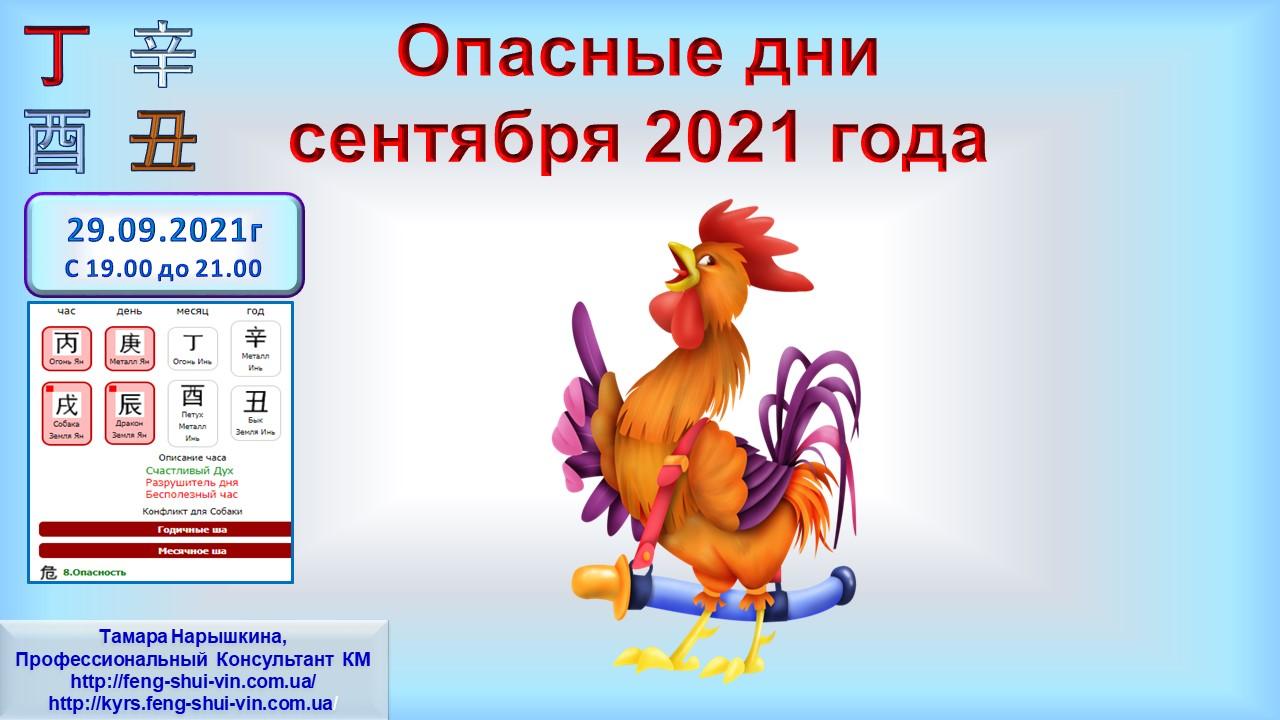Опасные дни сентября 2021 г. ч.4