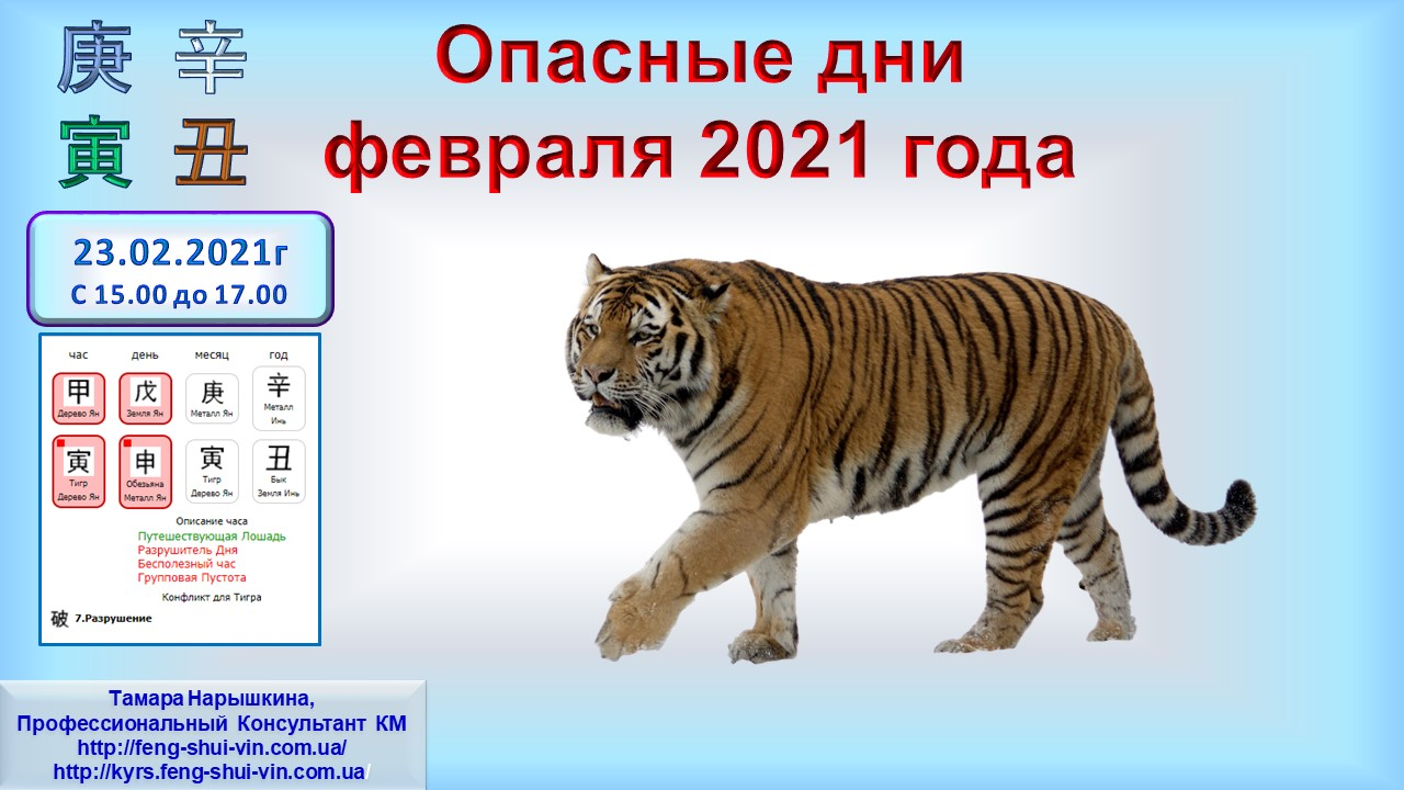 Опасные дни февраля 2021 г. ч.2