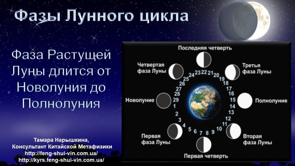 Растущая Луна Фазы Лунного цикла