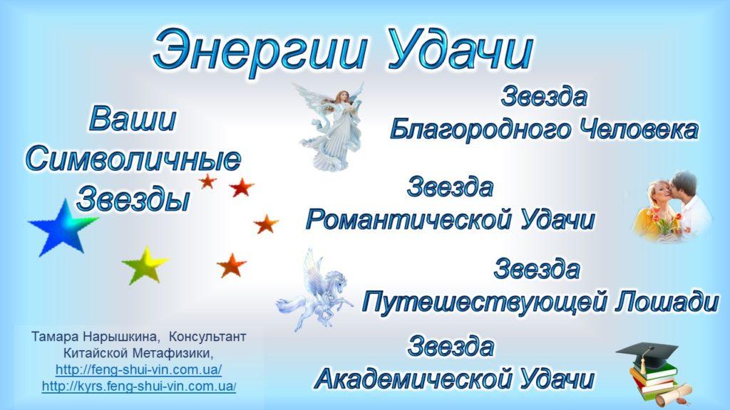 Энергии Удачи. Ваши Символичные Звезды